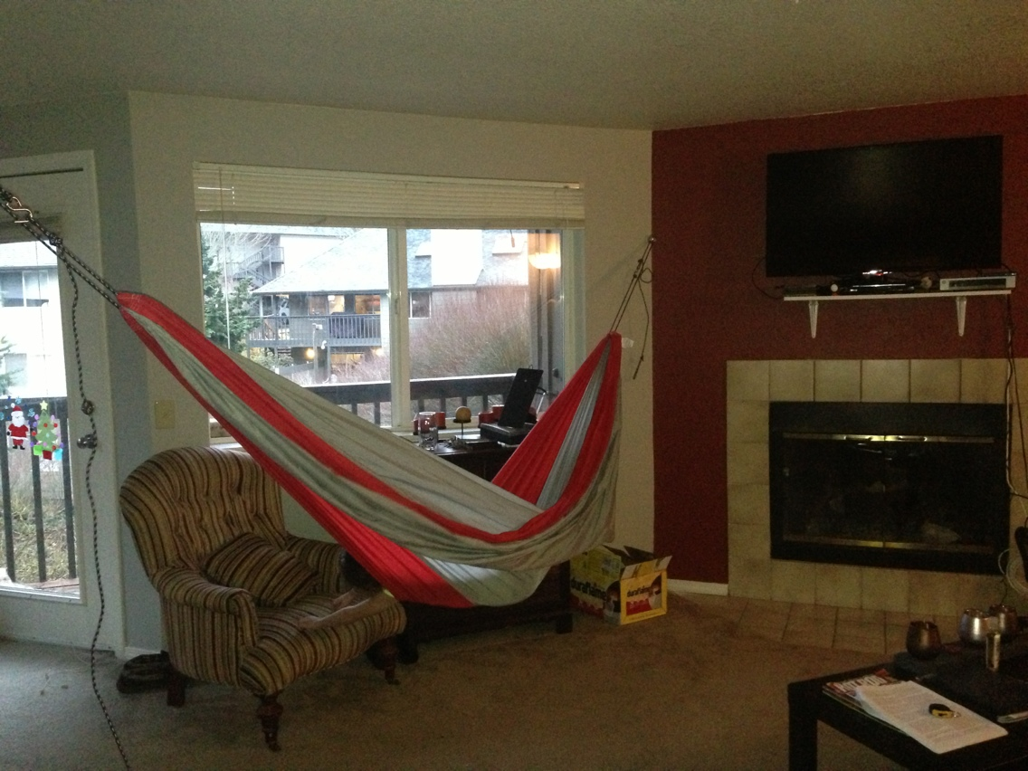 "happier / shaun hoffman: ""having a hammock in my living room makes"